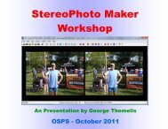 StereoPhoto Maker Workshop - Ohio Stereo Photographic Society