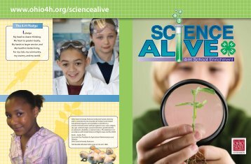 Download a Science Alive PDF Folder - Ohio State 4-H