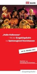 Hallowee-Party im Spielzeugland Stockhausen - Erzgebirgsbahn