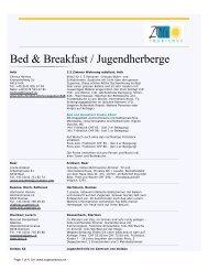 Bed & Breakfast / Hostels - EASV