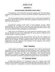 Occupational exposure limits (OEL)