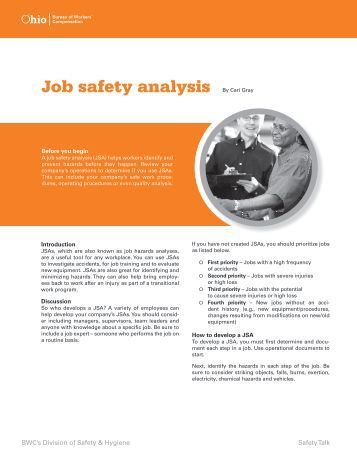 Job Safety Analysis (JSA) Form - CCCSIG