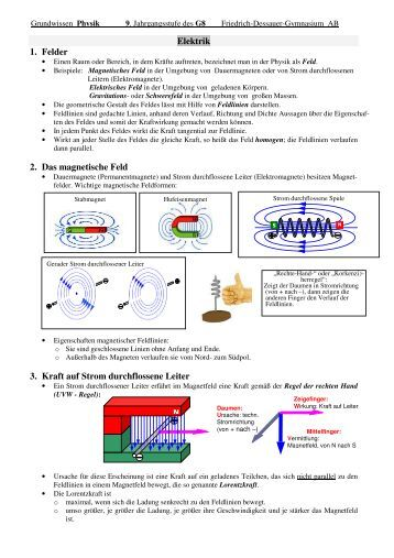 Grundwissen Physik Jahrgangsstufe  9 FDG Homepage