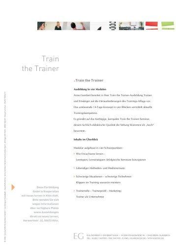 Train the Trainer - Eul-Gombert & Gombert