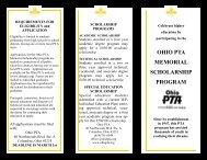 Scholarship Brochure - Ohio PTA