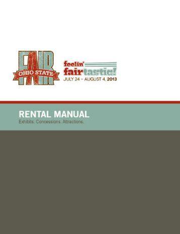Rental Manual - Ohio State Fair