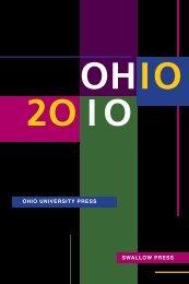 2010 Catalog - SWALLOW PRESS OHIO UNIVERSITY PRESS