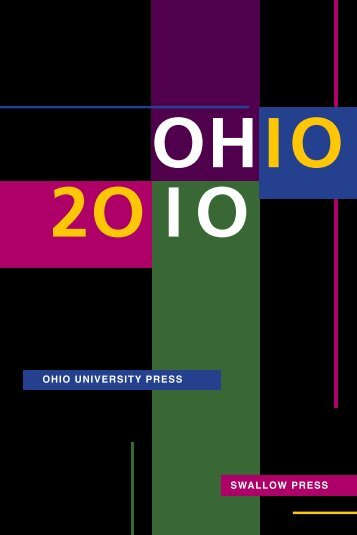2010 Catalog - SWALLOW PRESS OHIO UNIVERSITY PRESS