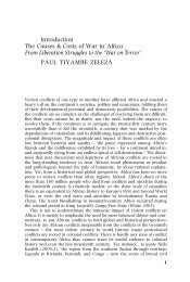 The Roots of African Conflicts - Ohio University Press & Swallow Press