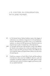 J.M. Coetzee in Conversation with Jane Poyner - Ohio University ...