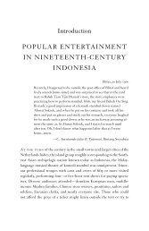 Popular Entertainment in Nineteenth-Century Indonesia