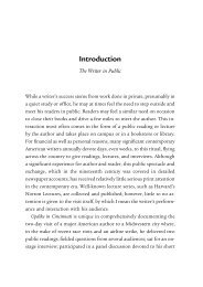 Updike in Cincinnati: A Literary Performance - Introduction