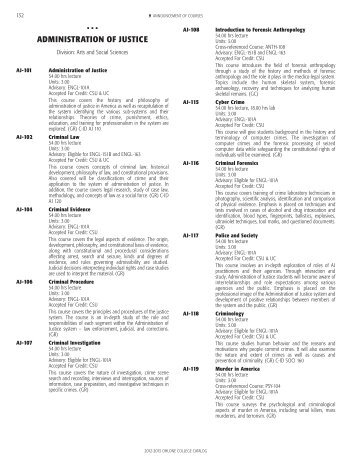 Courses Descriptions A-Z (PDF, 1.1 MB) - Ohlone College