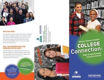 Newark cohort brochure - Ohlone College