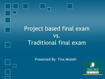 Final Exam: Project vs. Traditional - Staff ... - Ohlone College