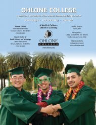 Inside Cover, Table of Contents - Ohlone College