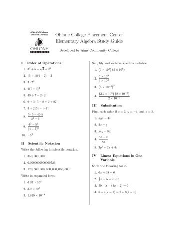 How to Prepare for an English & Math College Assessment ...