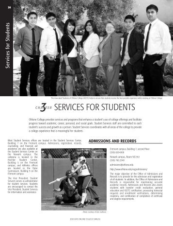 2012-2013 Catalog (Services for Students) - Ohlone College