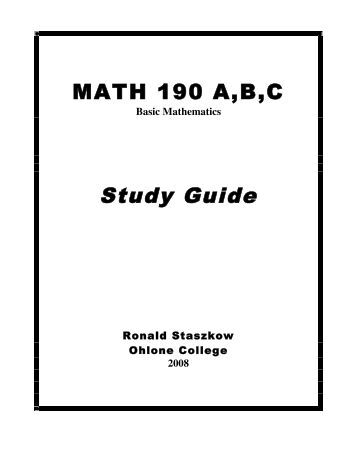 Math college field of study list