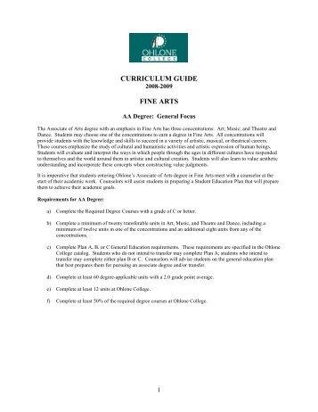 Fine Arts AA General Focus - 2008-2009 ... - Ohlone College