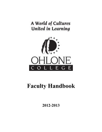 2012-2013 Faculty Handbook - Academic Affairs - Ohlone College