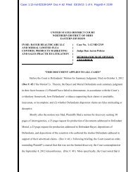 Memorandum Opinion & Order - Northern District of Ohio