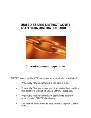 Creating Cross-Document Hyperlinks - Northern District of Ohio
