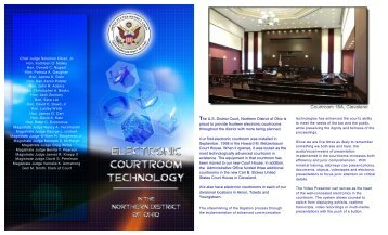Electronic Courtroom Brochure - Northern District of Ohio