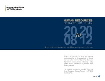 STRATEGIC PLAN HUMAN RESOURCES - Georgia Tech Office of ...