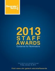 Nominator Guide - Georgia Tech Office of Human Resources