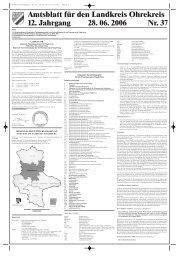 Amtsblatt für den Landkreis Ohrekreis 12 ... - Landkreis Börde
