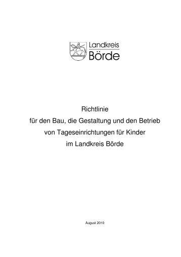 Richtlinie für den Bau, die Gestaltung und den ... - Landkreis Börde