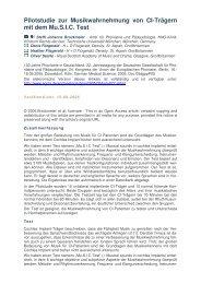 Pilotstudie zur Musikwahrnehmung von CI-Trägern mit dem Mu.SIC ...