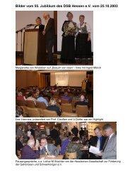 Bilder vom 55. Jubiläum des DSB Hessen e.V. vom 25.10.2003