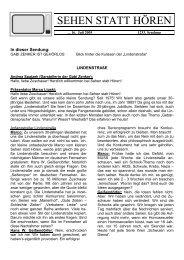 Lindenstrassenspecial mit CI-Tag - Sehen statt Hören vom 16.07.2005