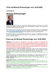 Chat mit Michael Schwaninger vom 16 - Michaels Ohrenseite