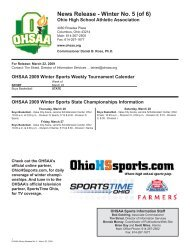 Winter No. 5 - Ohio High School Athletic Association