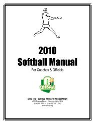 Columbus, OH 43214 (614) - Ohio High School Athletic Association
