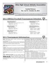 Ohio High School AthleƟc AssociaƟon - Ohio High School Athletic ...