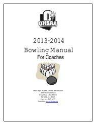2012-2013 Bowling Pre-Season Manual - Ohio High School Athletic ...