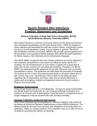 Sports Related Skin Infections Position Statement and ... - MSHSAA