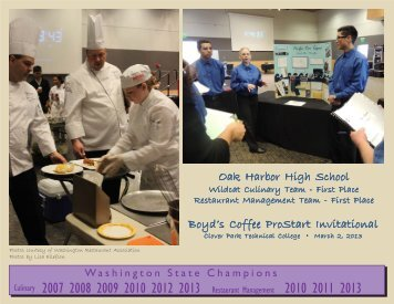 OHHS Culinary-Frasers - Oak Harbor School District