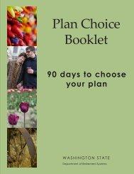 DRS – Plan Choice Booklet - Clover Park School District
