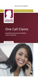 Short-Term Disability Claims One Call