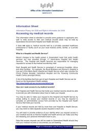 Information Sheet Accessing my medical records - Office of the ...