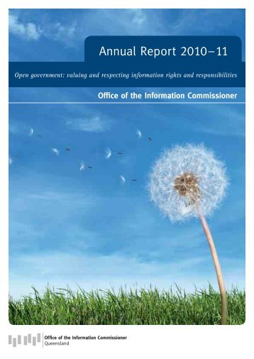 OIC Annual Report 2010 - Office of the Information Commissioner ...