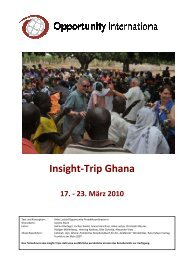 Anke Luckja zum Insight-Trip nach Ghana 2010 - Opportunity ...