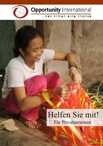 Spenden Privatpersonen Neu De - Opportunity International ...