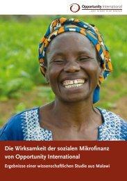 durchgeführte Studie - Opportunity International Deutschland