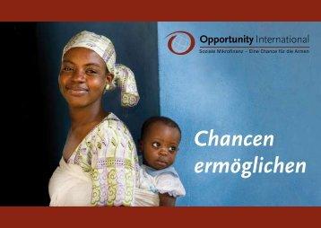 Chancen ermöglichen - Opportunity International Deutschland